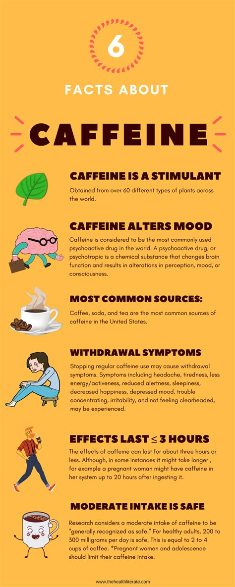 Side Effects From Detoxing Caffeine by 6 Facts About Caffeine The Health Literate