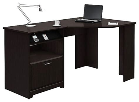 desk components for home office bush cabot corner computer desk in espresso oak