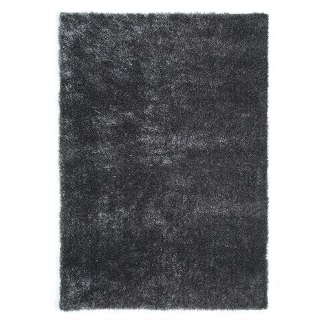 long shag rug lumiere fabric long pile rug in grey 140 x 200cm maisons