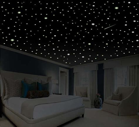 glow in the dark bedroom decor romantic bedroom decor star wall decal glow in the dark