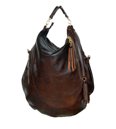 Handmade Hobo Bags - roselle two size brown leather hobo bag handmade
