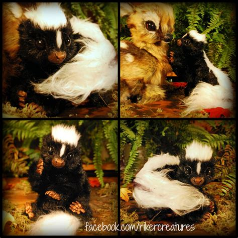 doll creature size realistic baby skunk poseable creature by