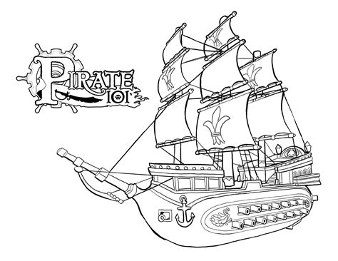 Pirate Ship Coloring Page by Sunken Pirate Ship Coloring Pages Coloring Pages