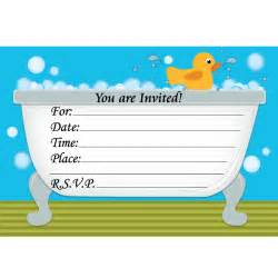 rubber ducky birthday invitations ideas bagvania free