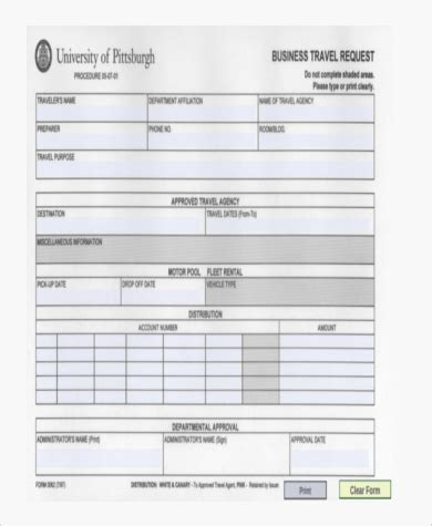 Sle Travel Request Forms 9 Free Documents In Pdf Business Travel Request Form Template