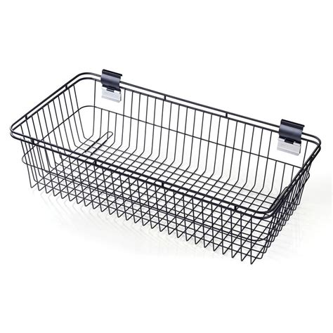 Snh Plumbing by Norsk Slatwall 30 In H Steel Basket Snh 92315 The Home
