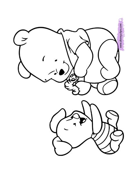 coloring page baby baby pooh coloring pages disney coloring book