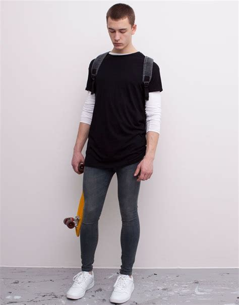 men s fashion heavy distressed super skinny ice blue jeans 5050 10 images about super skinny jeans and trainers on