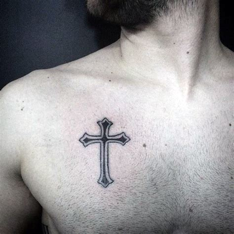 simple chest tattoos cross tattoos on chest www pixshark images