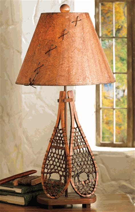 snowshoe table lamp