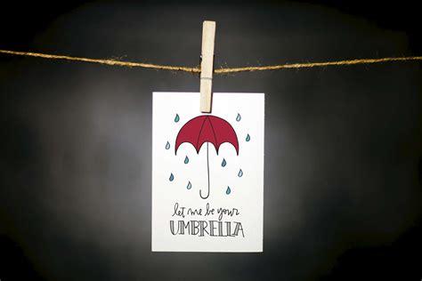 Kaos Umbrella Boy Grey 1 cards for greeting cards prints pencils mugs gifts boulder