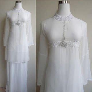 Baju Outerluaran Chiffon Wanita Preloved omg its ainee cumi dayang dayang putih