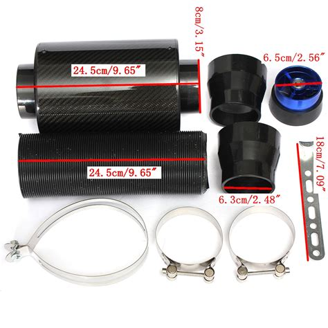 Intake Open Air Filter Universal Diameter Inlet 3inch 3inch universal performance air feed cold filter intake pipe induction extension alex nld
