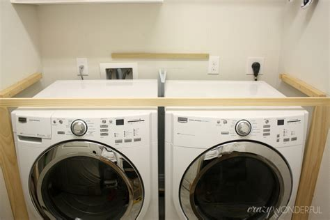 washer and dryer cabinet diy built in washer dryer crazy wonderful
