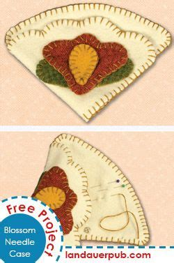 decorative needle case a small wool needle case with a simple closure fun flower