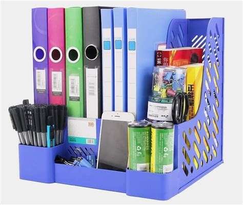 Organizer Kantor 2 updated 4 layer pp classic plastic file tray paper holders office desk documents organizer paper