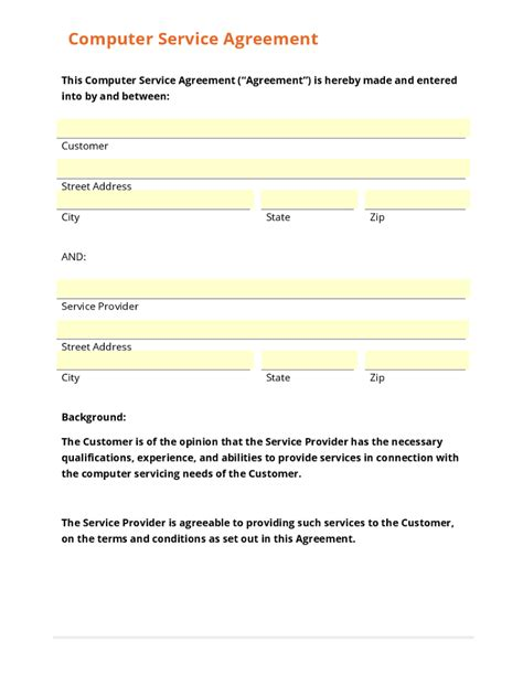 employee vehicle use agreement template business form template gallery