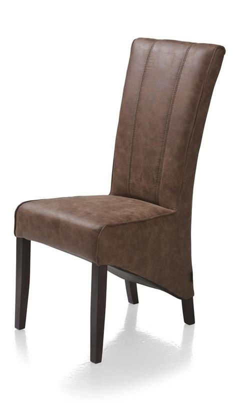 lydia dining chair colonial leg fabric cacao