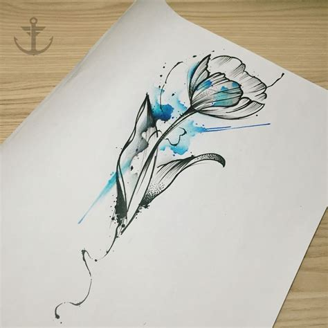 watercolor tulip tattoo on instagram 17 best images about on watercolor