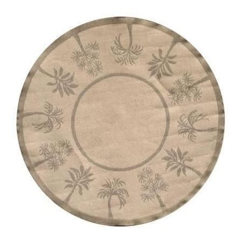 palm trees round rugs indoor outdoor area rug palm trees sage 8 round palm