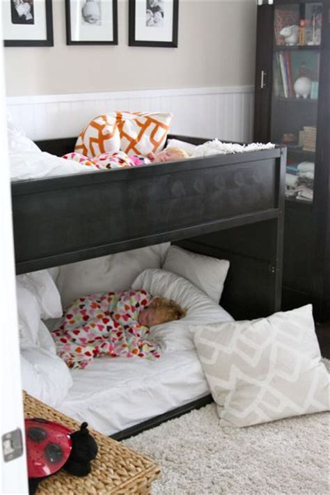 Bunk Bed With Crib On Bottom 17 Best Ideas About Bunk Bed Crib On Pinterest Toddler Bunk Beds Small Bunk Beds And Bunk