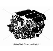 Vector Illustration Of Engine  Vectro
