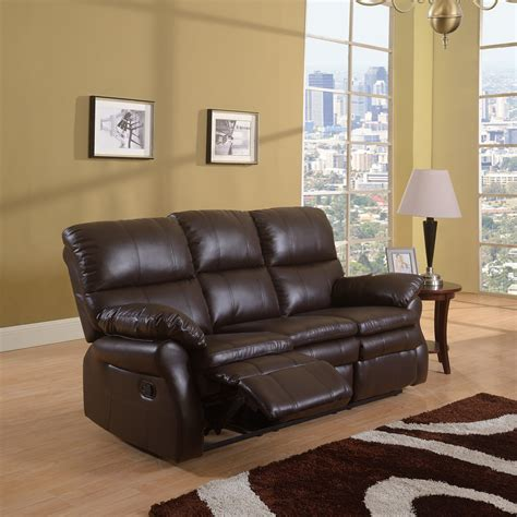 leather double recliner sofa classic bonded leather oversize double recliner sofa
