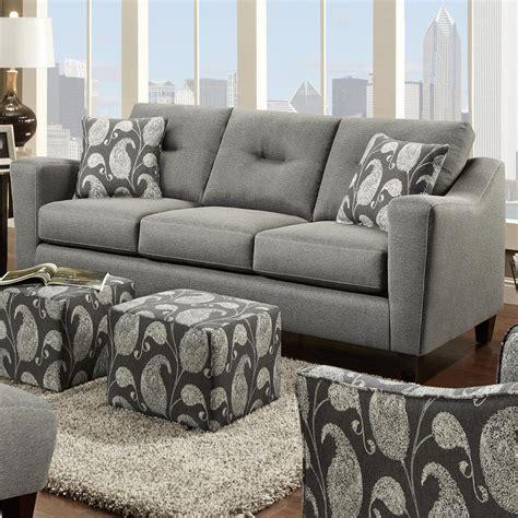 fusion couch fusion furniture 8100 contemporary 3 cushion sofa olinde