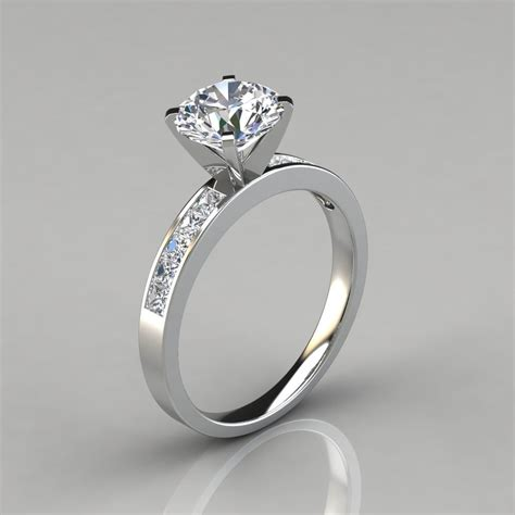 round brilliant cut channel set engagement ring forever