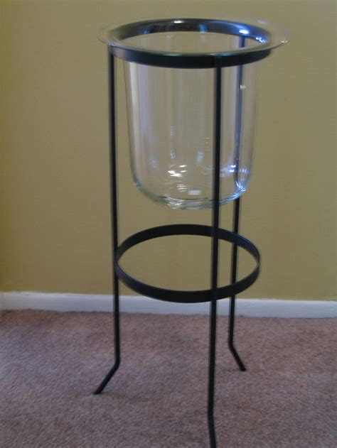 stand kerzenleuchter partylite seville 3 wick wrought iron stand w glass