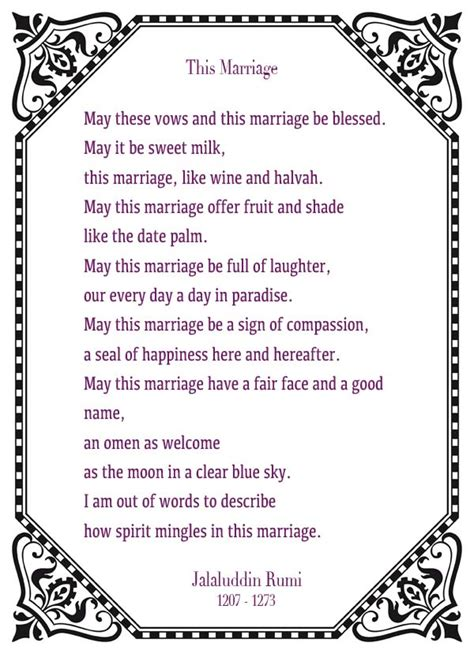 Wedding Quotes Rumi by This Marriage Rumi Tags Poem A Ceremony Pictures