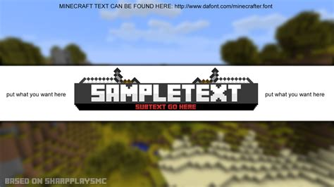 minecraft youtube banner template by hsmlg on deviantart