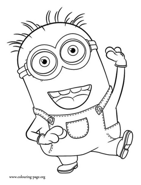 minion stuart coloring pages