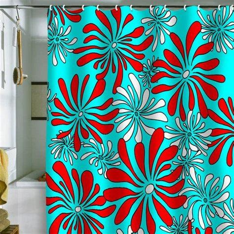 red and aqua curtains 1000 ideas about teal shower curtains on pinterest