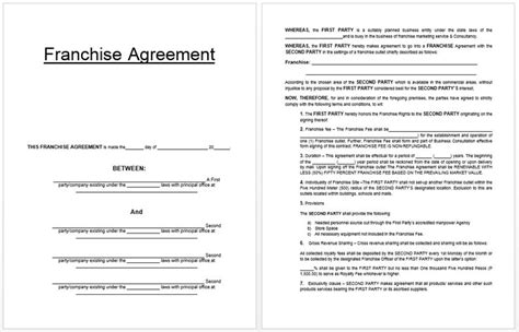 franchise template agreement 17 best images about business templates on