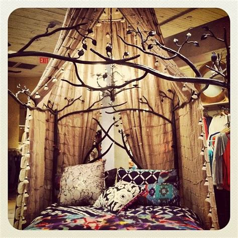 Forest Canopy Bed Forest Canopy Bed Boho Unfinished Basements And Anthropologie