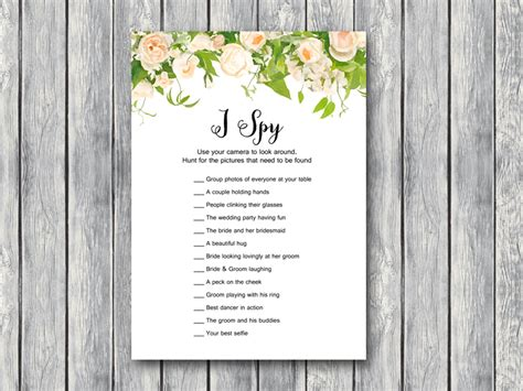 download i spy wedding scavenger game bride amp bows