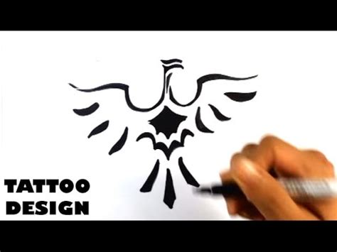 how to draw a bird tribal tattoo design draw tattoo