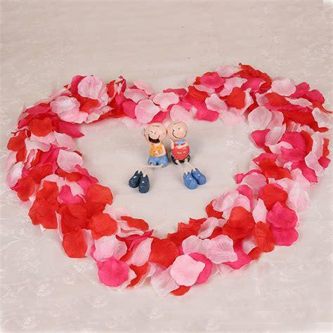50 Pcs Table Confetti Decoration Silk Petals Flower top quality 1000pcs silk flower petals leaves wedding
