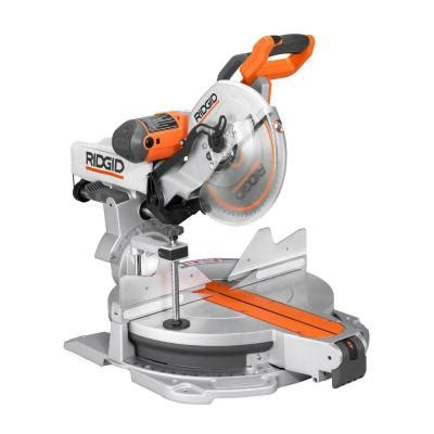 ridgid 15 12 in sliding compound miter saw with
