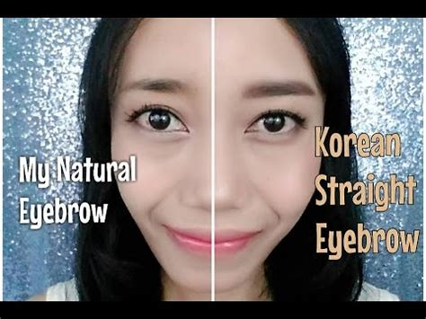 tutorial alis wanita korea korean straight eyebrow tutorial cara bikin alis ala