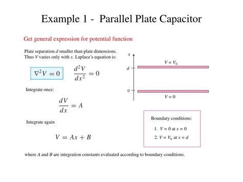 capacitor en laplace ppt capacitance and laplace s equation powerpoint presentation id 2182520