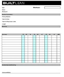 work out templates workout log template in tex stack exchange