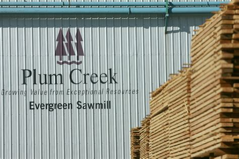 Plumb Creek Timber by Business As Usual At Local Mills As Plum Creek Readies