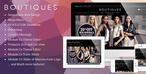 Responsive Prestashop Template Et Boutique By Tvlgiao Themeforest Free Boutique Templates For Website