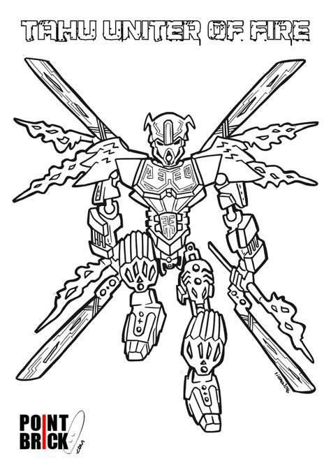 Bionicle Coloring Pages Disegni Da Colorare Lego Bionicle Tahu Unificatore Del