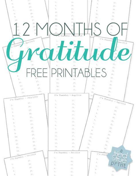 Gratitude Journal Tried True Gratitude Journal Template