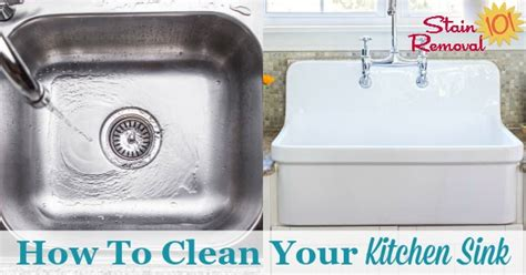 How To Clean The Kitchen Sink How To Clean Kitchen Sinks Hints And Tips