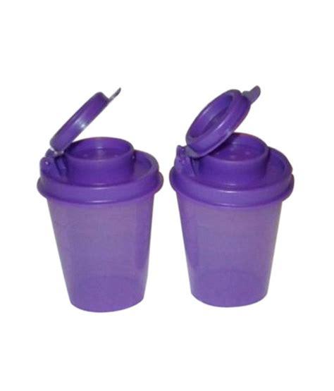 4 Pcs Purple Tupperware tupperware purple plastic salt pepper shaker set