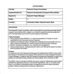 Free Description Template by 10 Project Coordinator Description Templates Free
